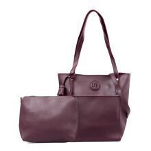 HUER Leiby Tote Bag With Tassel - Maroon