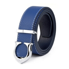 Kalewansheng original imported fashion men's belt Korean men and women type smooth buckle leather belt