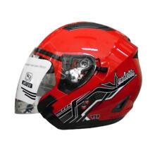 RDX Vendeta Solid Red Helmet Half Face