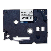 BROTHER Label Tape TZE-FX251 24MM Flexible Black on White
