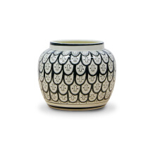 Vivere Vase Deco Roundy Curves White