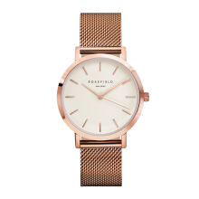 ROSEFIELD The Mercer Rose Gold White Dial Watch with Rose Gold Strap [MWR-M42]