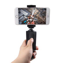 2 in 1 Portable Mini Rotated Desktop Holder Tripod Selfie Stick For iPhone X 8Plus OnePlus5 Samsung Xiaomi6 Black