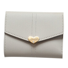 BESSKY Women Clutch Heart Shaped Short Purse Wallet Card Holder Handbag Bag_