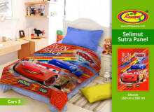 Selimut Rosanna Sutra Panel 150x200cm Cars New - Red Black