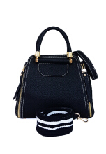 Catriona By Cocolyn Cadence top handle bag - BLACK
