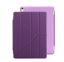 Ins I-388 artificial leather Hard Core sheer Apple Ipad MINI1/2/3 protective cover&Y stand-Purple