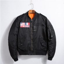 Ins V-397 Trendy brand new Simple Design Pilot baseball jacket-BLACK