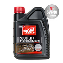 VROOAM-VROOAM SCOOTER - 4T MOTORCYCLE ENGINE OIL 5W40-BLACK Hitam