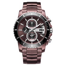 Alexandre Christie AC 6455 MC BTNBO Chronograph Maroon Dial Maroon-tone Stainless Steel [ACF-6455-MCBTNBO]