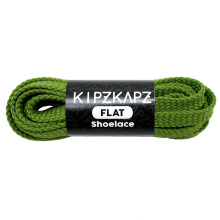KIPZKAPZ FS13 Flat Shoelace - Green Army [8mm]