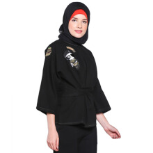 COVERING STORY Rajwa Army Top - Black [All Size]