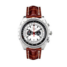 TEIWE SWISS TW6007AS-02 KNIGHTLY CHRONO BROWN LEATHER STRAP Brown