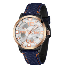 Lee Watch Jam Tangan Pria Metropolitan Gents Kulit Navy Blue Denim M129ABV2-7R