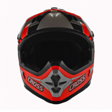 CARGLOSS MXC Motocross Helm Motocross - Orange Black Sp Whity White