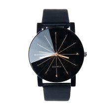REEBONZ New Style Fashion Ladies Dress Quartz Black Sun Rays Watch Black