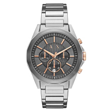 Armani Exchange Chronograph Gray Dial Stainless Steel Watch [AX2606] Silver