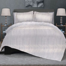 CELINA Sprei Set & Quilt Cover Single - Noosaville Abu - 120x200x40cm