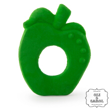 Oli And Carol Chew Fruit Teether Apple Green