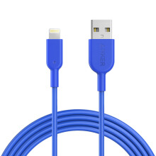 [free ongkir]Anker Kabel PowerLine DURA II 6ft Lightning iPhone Biru - A8433H31