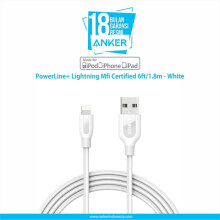 [free ongkir]Anker PowerLine+ Lightning Mfi Certified Cable 6ft/1.8m - White [A8122H21]