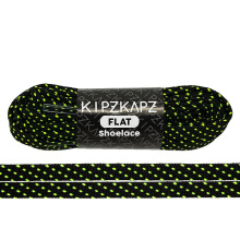 KIPZKAPZ FS60 Flat Shoelace - Black Volt Stripes [8mm]