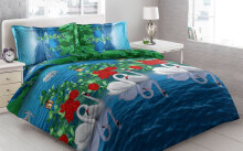Sprei Bantal 4 Vito Disperse 180x200cm Swans - Blue