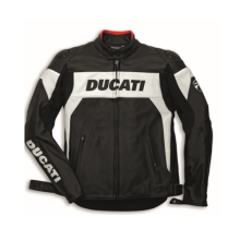 Ducati Jacket Hi-Tech 13 Peforated 54 (Jaket Kulit) Hitam 54