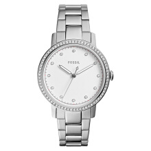 Fossil Ladies Neely White Dial Stainless Steel Strap [ES4287] Silver