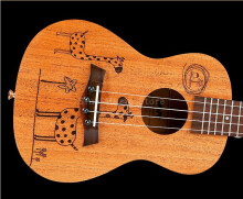 BWS 23 inch Ukulele Concert 4 Strings Musical Instruments 18 Frets B-04 Wood Color