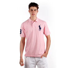 POLO RALPH LAUREN - Custom-Fit Polo Shirt Light Pink Men