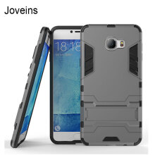 Joveins For Samsung Galaxy C7 Case C7000 Slim Robot Armor Phone Cover Kickstand Shockproof Rubber Hard Back Case For Samsung