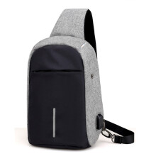 BESSKY Rechargeable USB Anti-thief Shoulder Bag Backpack One Shoulder Bag_