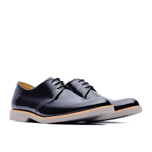 LIFE 8 MIT Lightweight Cow Leather Casual Derby Shoes - Black