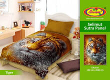 Selimut Rosanna Sutra Panel 150x200cm Tiger - Brown Brown