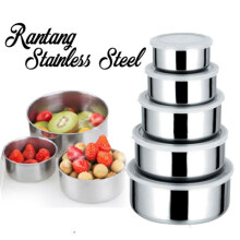 [free ongkir]RADYSA Rantang Stainless 5 Susun Fresh Box Grey Others