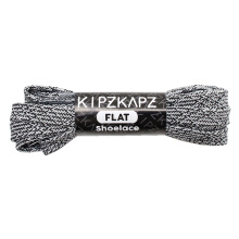 KIPZKAPZ F14A Flat Shoelace - Black White [8mm]