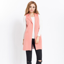 Fashionmall Women New Spring Fall Vest Cardigan Fashion Office Coat Jacket
