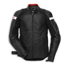 DUCATI MEN LEATHER JACKET D-ARMOUR PERF.54 Black