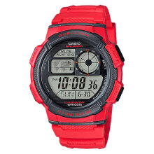 Casio AE-1000W-4AVDF - 10 Year Battery - Water Resistance 100M Red Resin Band [AE-1000W-4AVDF]