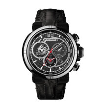 Moment Watch Guy Laroche GL6257LD-01 Jam Tangan Pria - Leather Strap - Black Black