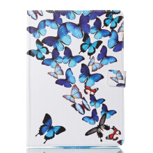 Sentum Apple New iPad 2017 Case Tablets Flip Stand Leather Butterfly