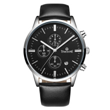 TIMEZONE Men's Genuine Leather Strap Quartz Watch 5005