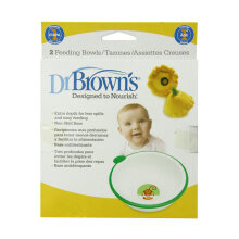 Dr. Brown's 730 Feeding Bowl - White [2 Pcs]