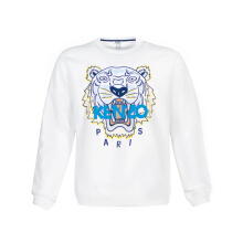 Kenzo White Tiger Head Paris Jersey Sweatshirt