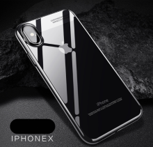 Reys R-88 ElectroPlating Silicone transparent anti-fall super thin IPHONE X  case cover- Tblack