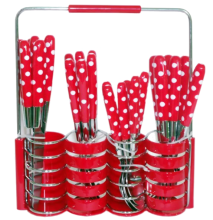[free ongkir]RADYSA Sendok Set Polkadot 24Pcs - Merah Red Not Specified