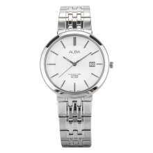 Alba Man White Dial Sapphire Crystal Stainless Steel [AS9D83X1] Silver