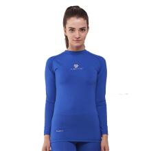 Tiento Baselayer Manset Compression Long Sleeve Blue Baju Kaos Ketat Olahraga