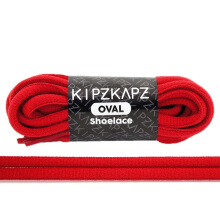 KIPZKAPZ OS9 Oval Shoelace - Red [6mm]